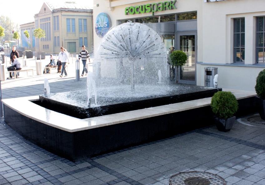 fontanna pod centrum handlowym focus park w zielonej g243rze